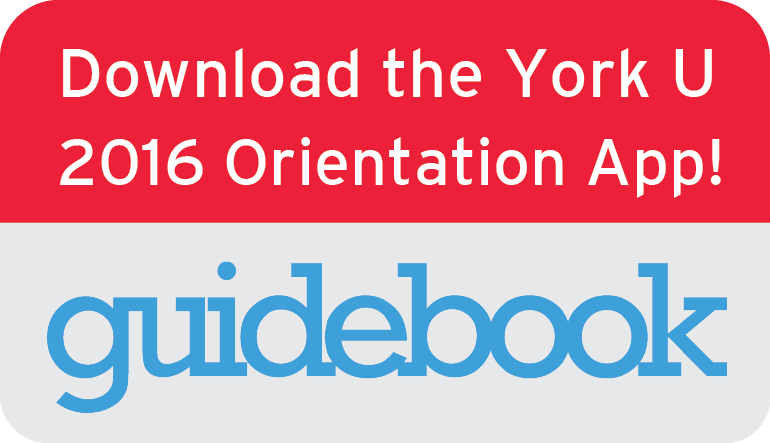 Download the York U 2016 Orientation App!: Guidebook logo
