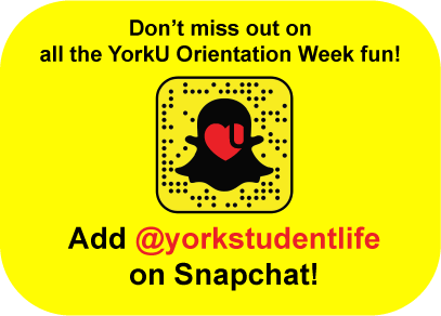 Follow us on Snapchat. @yorkstudentlife
